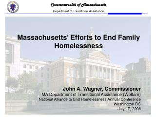 Massachusetts' Efforts to End Family Homelessness