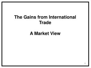 The Gains from International Trade A Market View