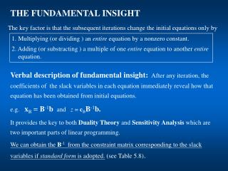 THE FUNDAMENTAL INSIGHT