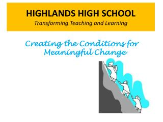 HIGHLANDS HIGH SCHOOL Transforming Teaching and Learning