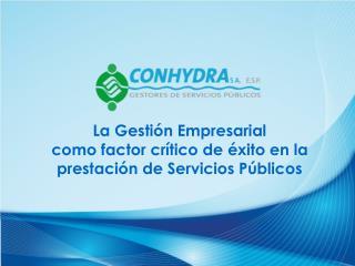 La Gestión Empresarial  como factor crítico de éxito en la prestación de Servicios Públicos