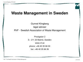 Waste Management in Sweden