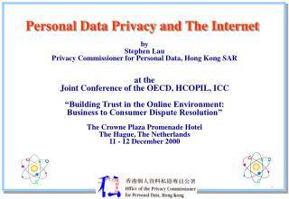 Personal Data Privacy and The Internet