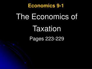 Economics 9-1
