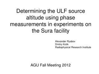 AGU Fall Meeting 2012