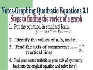 Notes-Graphing Quadratic Equations 3.1