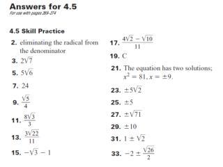 4.5 ANSWERS