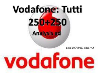 Vodafone: Tutti 250+250