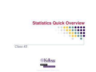 Statistics Quick Overview
