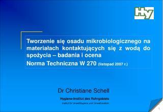 Dr Christiane Schell