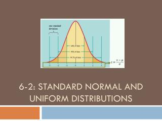 6-2: Standard Normal and Uniform Distributions