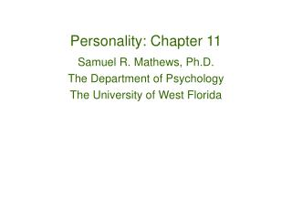 Personality: Chapter 11