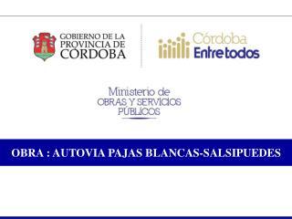 OBRA : AUTOVIA PAJAS BLANCAS-SALSIPUEDES