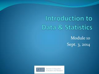 Introduction to  Data & Statistics