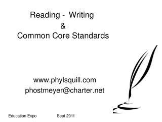 Reading - Writing    Common Core Standards