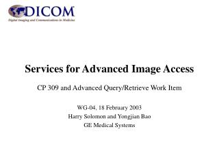 Services for Advanced Image Access