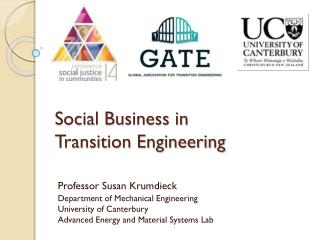Social Business in  Transition Engineering