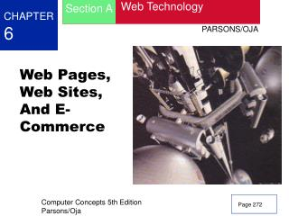Web Pages, Web Sites, And E-Commerce
