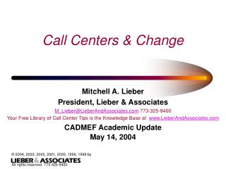 Call Centers & Change