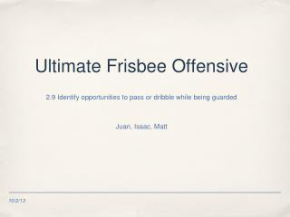 Ultimate Frisbee Offensive