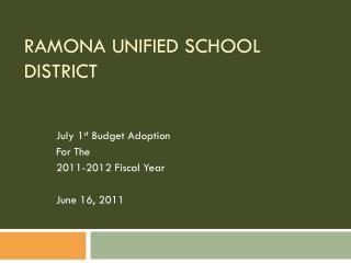 Ramona Unified School District