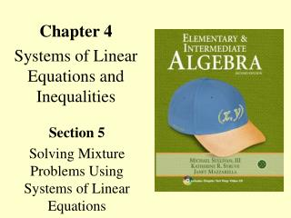 Chapter 4 Systems of Linear Equations and Inequalities