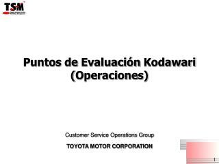 Puntos  de  Evaluación Kodawari ( Operaciones )
