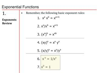 1.   Exponents Review