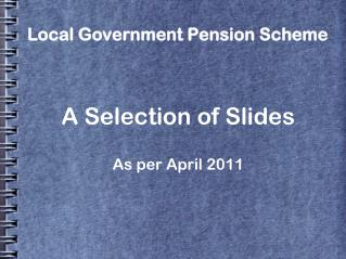 Local Government Pension Scheme
