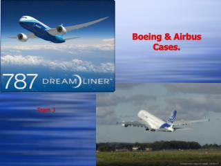 Boeing & Airbus Cases.