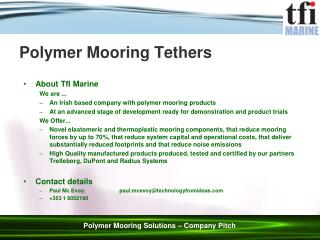 Polymer Mooring Tethers