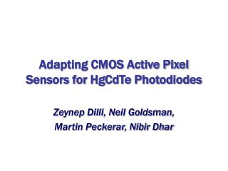 Adapting CMOS Active Pixel Sensors for HgCdTe Photodiodes