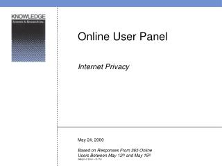 Online User Panel Internet Privacy