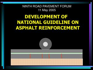 NINTH ROAD PAVEMENT FORUM 11 May 2005