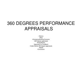360 DEGREES PERFORMANCE APPRAISALS