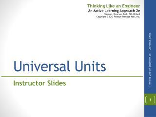 Universal Units