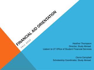 Financial aid Orientation