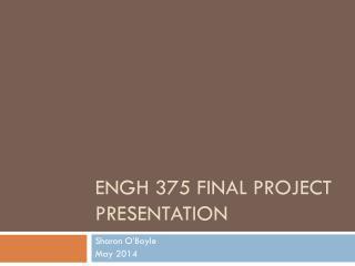ENGH 375 Final Project Presentation