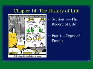 Chapter 14: The History of Life