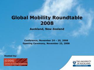 Global Mobility Roundtable 2008