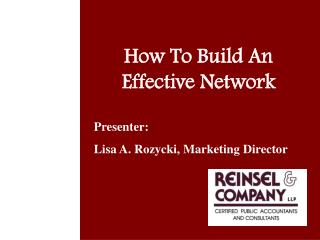 How To Build An Effective Network