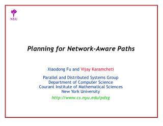 Planning for Network-Aware Paths