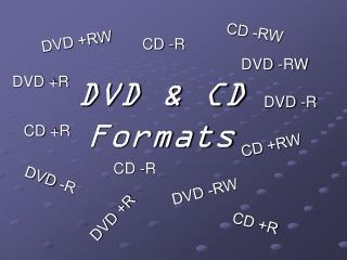 DVD & CD Formats