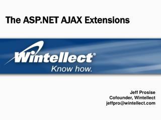 The ASP AJAX Extensions