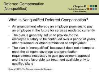 What Is Nonqualified Deferred Compensation?