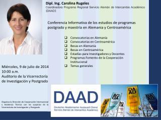 Coordinadora Programa RegionalServicio Alemán de Intercambio Académico (DAAD)