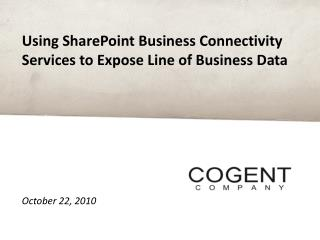 Using SharePoint Business Connectivity Services to Expose Line of Business Data