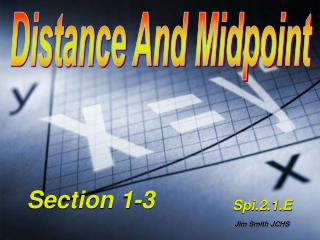 Distance And Midpoint