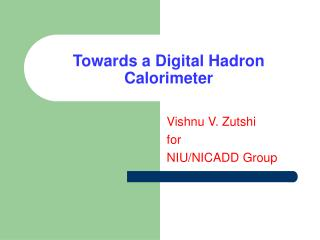 Towards a Digital Hadron Calorimeter