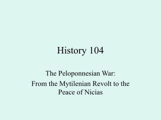 History 104